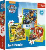 ND17_PU-7740 Puzzle 3w1 Psi Patrol Marshall, Rubble, Chase 34839 Trefl