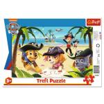 ND17_PU-8925 Puzzle 15el ramkowe Przyjaciele z Psiego Patrolu. Paw Patrol 31350 Trefl