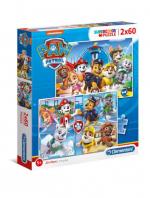 ND17_PU-9184 Clementoni Puzzle 2x60el PAW PATROL Psi Patrol 21617