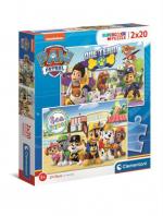 ND17_PU-9569 Clementoni Puzzle 2x20el PAW PATROL / Psi Patrol 24779