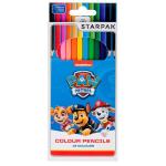 ND17_SZ-51115 Kredki ołówkowe 12 kolorów Psi Patrol. STARPAK