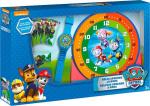 ND17_ZB-126730 Zestaw do nauki o czasie z zegarkiem i kartami do gry Psi Patrol PW16477 Kids Euroswan