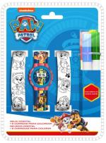 ND17_ZB-126738 Zegarek cyfrowy z dwoma paskami do kolorowania Psi Patrol PW16686 Kids Euroswan