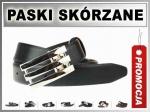 2-1-B4 Pasek MĘSKI SKÓRZANY Klamra BLACHA 3cm
