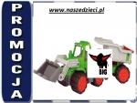 Big 56838 Power Traktor Spychacz Z Przyczepą Ruchoma Łyżka