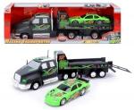 DICKIE 3413417 Transporter z autem wyścigowym