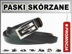 DK 3620 Pasek MĘSKI SKÓRZANY Klamra BLACHA 3cm