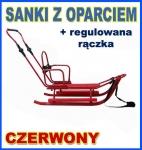 PICCOLINO CZERWONE Sanki z regulowana raczka OPARCIE